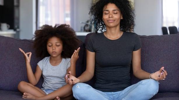 mum and daughter yoga