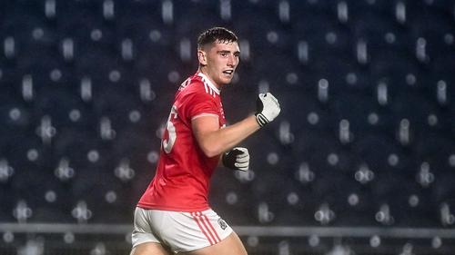 Mark Keane celebrates after scoring Cork's winning goal in extra time against Kerry last November