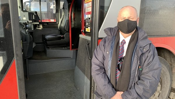 Bus Éireann driver Bill Hopkins says he feels good helping to keep things moving