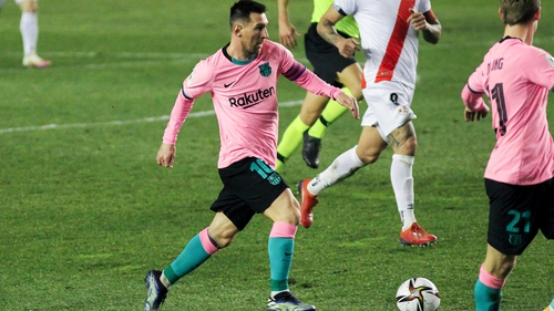 Messi was to fore for Barca after his two-match ban