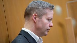 Stephen Ernst in court in the city of Frankfurt