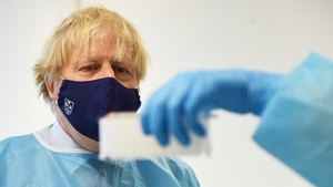 Boris Johnson is set to highlight the British government's role in dealing with the pandemic in Scotland