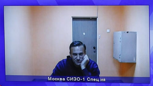 Alexey Navalny is currently detained