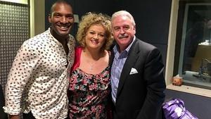 Noah Stewart and Cara O Sullivan in studio with RTÉ lyric fm's Marty Whelan