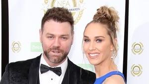 Brian McFadden with his fiancée Danielle Parkinson