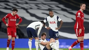 Harry Kane was forced off injured against Liverpool