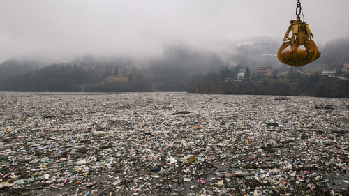 Activists say more than 20,000 cubic metres of plastics have been carried into Potpecko lake from unregulated dumps