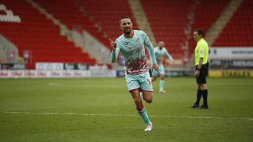 Conor Hourihane has made an immediate impact at new club Swansea