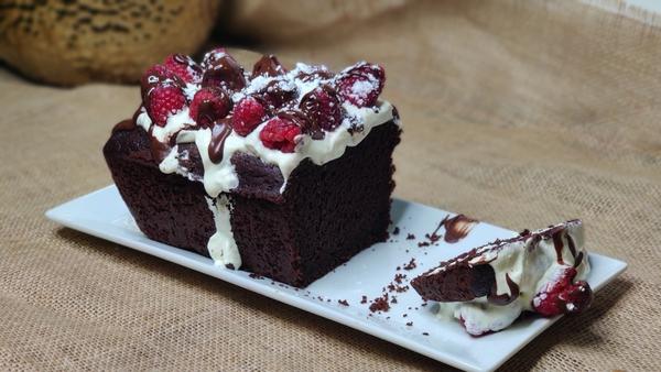 Brian McDermott's chocolate, raspberry beetroot velvet cake.