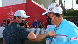 Harrington congratulating Casey after his win