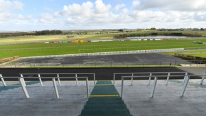 A view of the course and empty grandstand at Limerick Racecourse