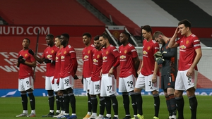 The Manchester United team which started the defeat to Sheffield United
