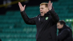 Neil Lennon gesticulates on the sideline during Celtic's 2-1 loss to St Mirren on Saturday