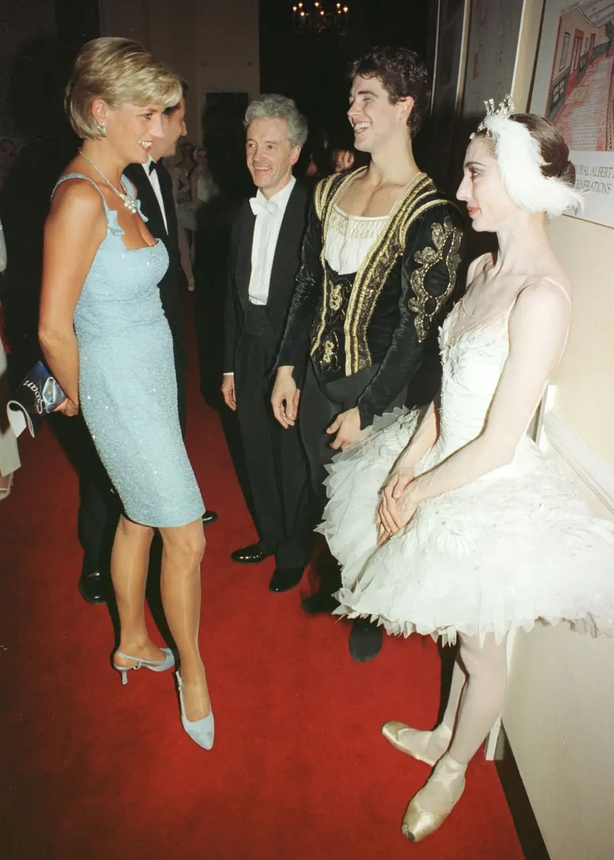 Princess Diana wearing Jimmy Choo shoes in 1997 John Stillwell/PA)