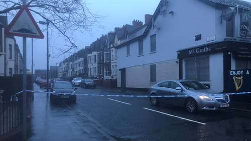 Scene at Clifton Crescent remains sealed off