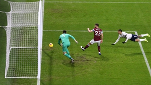 Gabriel Jesus scores Manchester City's opener in the third minute at Turf Moor