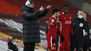 Jurgen Klopp made a double substitute in the 64th minute, with Alex Oxlade-Chamberlain Divock Origi replacing  Georginio Wijnaldum and Xherdan Shaqiri as the Reds chased the game