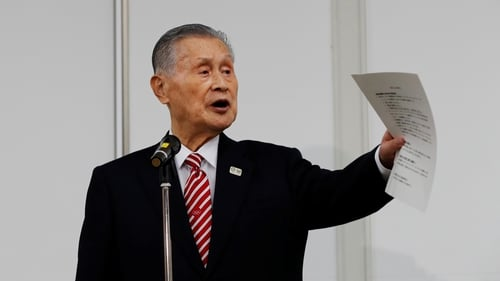 Tokyo 2020 president Yoshiro Mori speaks during a news conference in Tokyo on 4 February, 2021