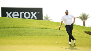 Shane Lowry on the seventh green where he completed his run of four straight birdies