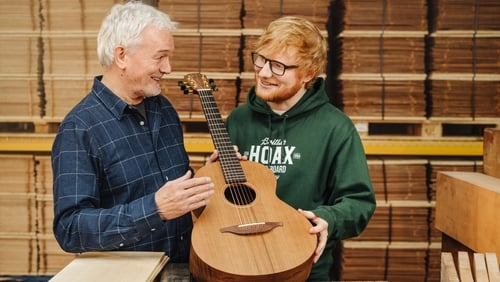George Lowden with Ed Sheeran in 2019