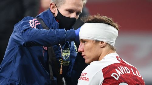 David Luiz suffered a clash of heads with Raul Jimenez in November that left the Wolves striker with a fractured skull