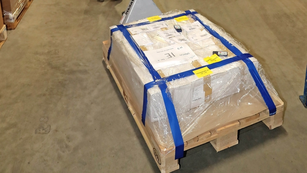 A batch of AstraZeneca vaccines arrived in Dublin this afternoon