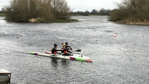 Jon Simmons completed his kayak challenge at the Salmon Leap Canoe Club in Leixlip