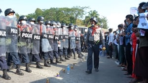 Protesters have continued to defy Myanmar's security forces since a military coup in February 2021
