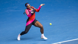 Serena Williams was channelling her inner Flo-Jo with her opening round outfit