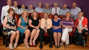 Tom Kenny (front row, centre) pictured at the Ladies Football Association 40th Anniversary in 2013