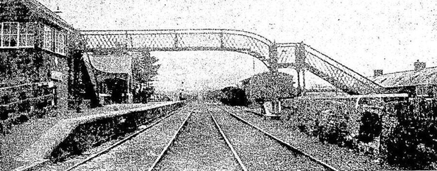 Upton station where the ambush took place. Photo: Cork Examiner, 17 February 1921