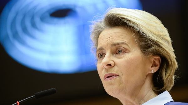Ursula von der Leyen has been criticised over the pace of the vaccine roll-out