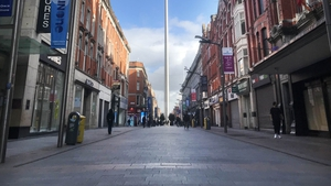 An empty Dublin city centre (RollingNews.ie)