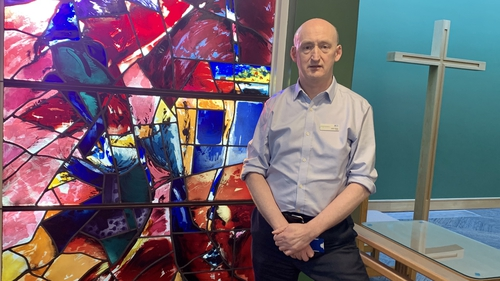 Chaplain John Kelly says he offers a supportive listening ear for patients