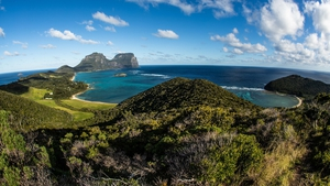 Australia cancelled a marine tsunami warning it had issued for residents of Lord Howe Island (pictured)