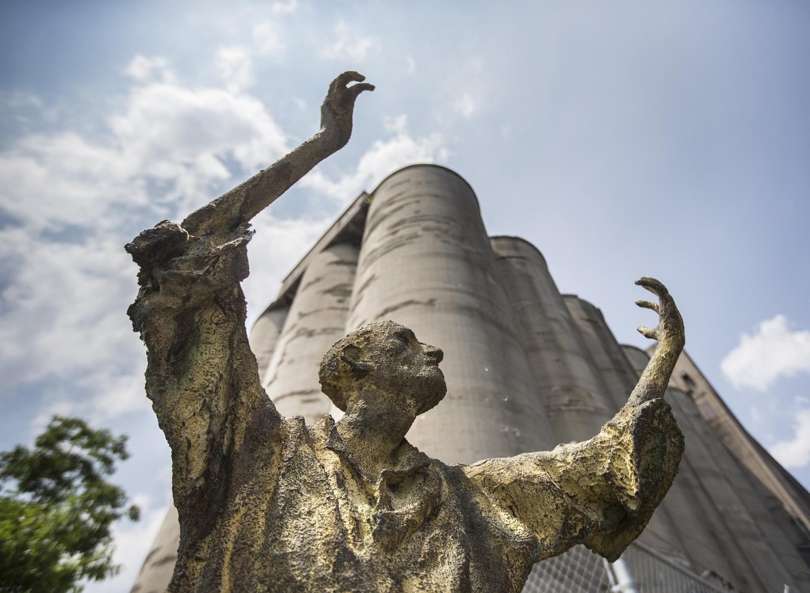 Image - A view of the famine memorial at Ireland Park in Toronto. Photo: Bernard Weil/Toronto Star via Getty Images
