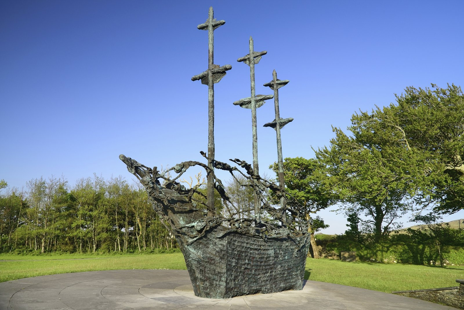 Image - Another view of the National Famine Memorial in Mayo. Photo: Eye Ubiquitous/Universal Images Group via Getty Images