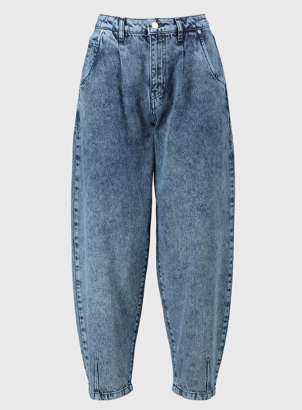 Tu at Sainsbury's Acid Wash Blue Denim Balloon Leg Jeans