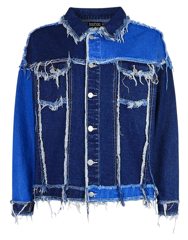 Boohoo Patchwork Denim Jacket