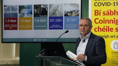 HSE CEO Paul Reid at the weekly update on the response to Covid-19. Photo: Leon Farrell/Photocall Ireland