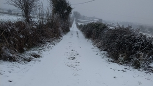 Snow yesterday in Moycullen, Co Galway (Pic: Mary Drury)