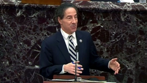 Lead impeachment manager Jamie Raskin appealed to senators to 'exercise your common sense' and convict Donald Trump