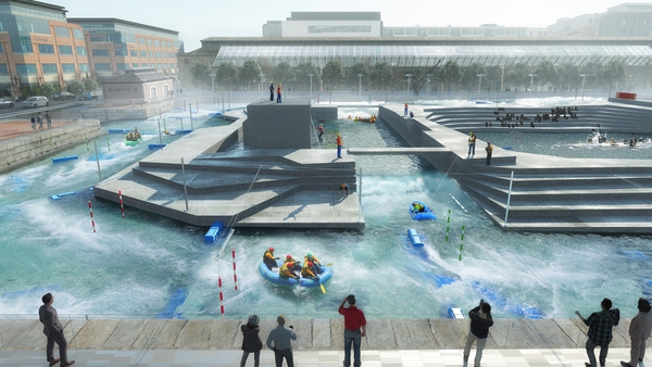 The whitewater rafting centre was proposed for George's Dock at the IFSC