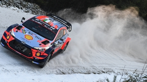 Craig Breen and Paul Nagle competing at last year's Rally Sweden