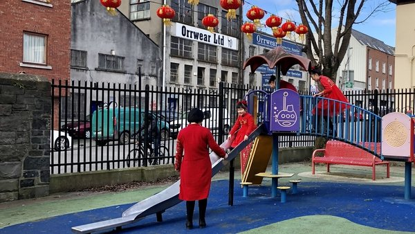 The Zheng family in Dublin celebrating the Chinese New Year