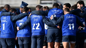 France players huddle together during training on Thursday in Marcoussis, south of Paris