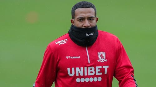 Nathaniel Mendez-Laing during Middlesbrough training