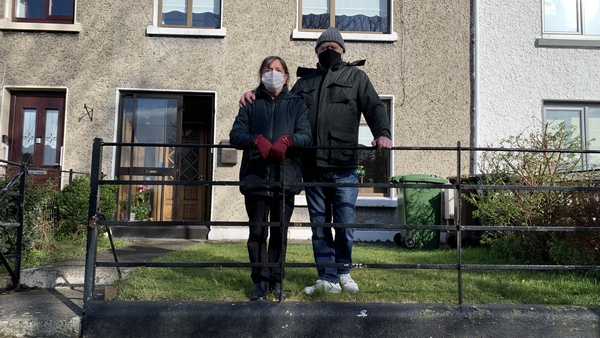 Dolores and Luke Cheevers outside their home in Marino