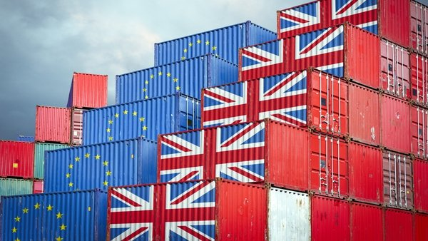 Imports of goods from Britain were down 53% in February compared to the same month last year