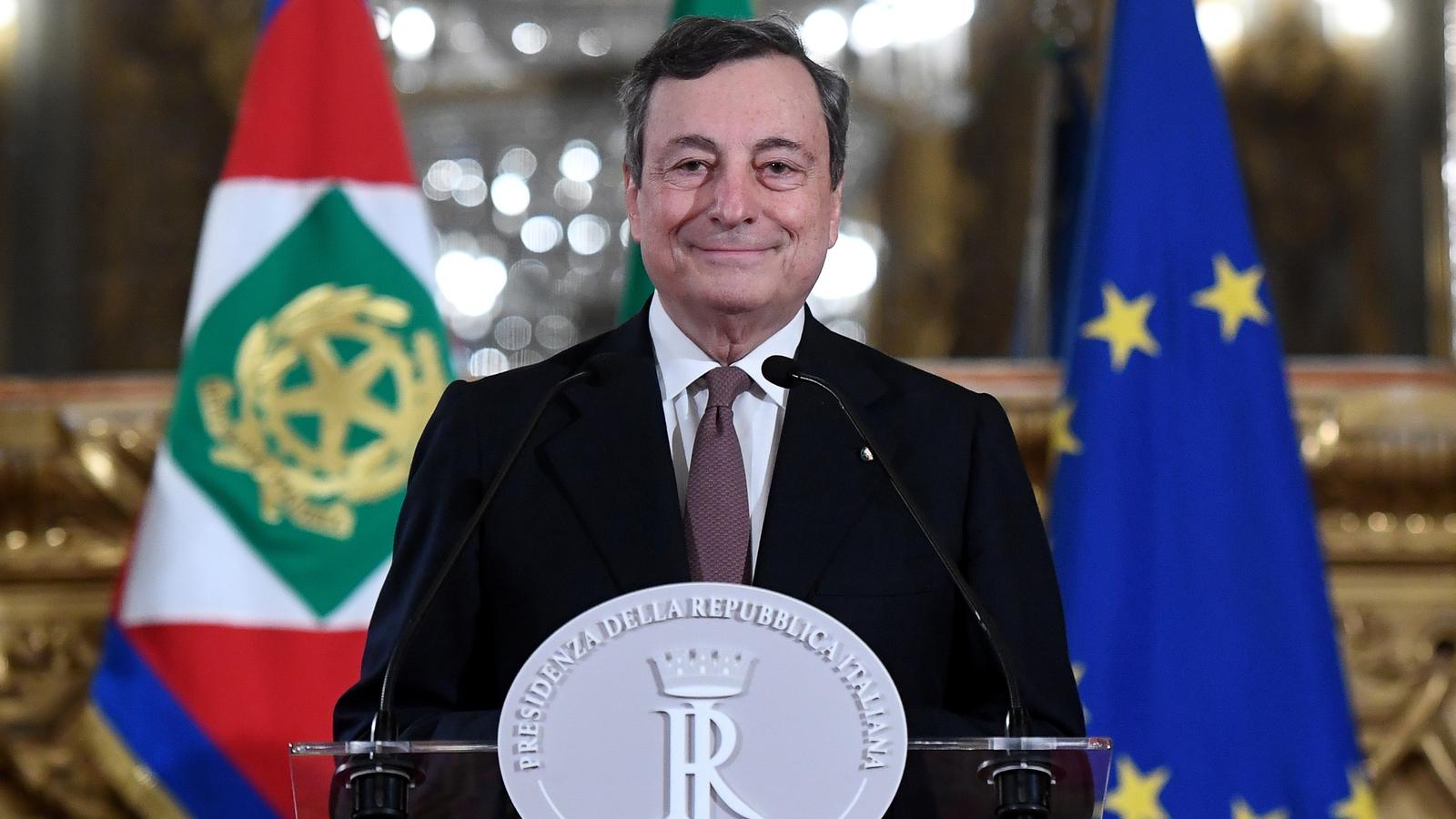Draghi sets out plan to rebuild virus-hit Italy